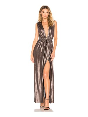 About Us Meredith Plunge Maxi Dress