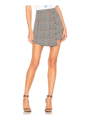 About Us Tyler Plaid Mini Skirt