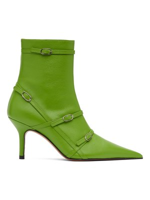 Abra belt heeled ankle boots