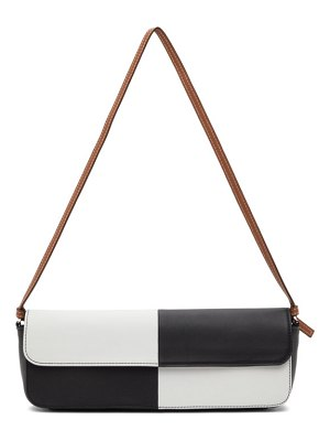 Abra black and white big baguette bag