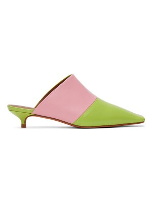 Abra pink & green lord mules