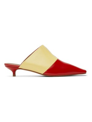 Abra red & yellow lord mules