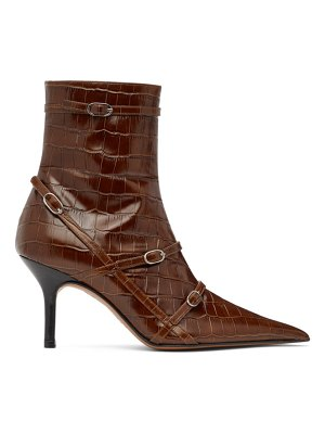 Abra ssense exclusive  belt heeled ankle boots
