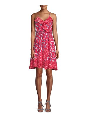 ABS by Allen Schwartz Floral Ruffle A-Line Dress