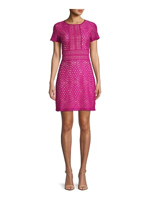 ABS by Allen Schwartz Geometric Lace Mini Dress