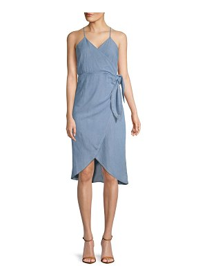ABS by Allen Schwartz Hi-Lo Wrap Dress