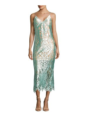 ABS by Allen Schwartz Intricate Mesh Slip Dress