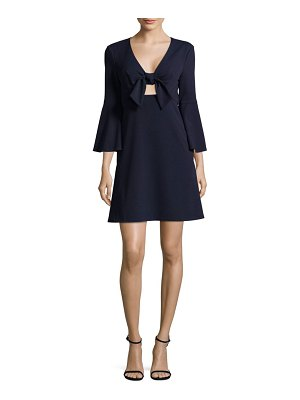ABS by Allen Schwartz Tie-Front Dress