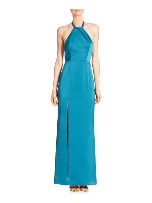 ABS by Allen Schwartz Open Back Halter Tie Gown