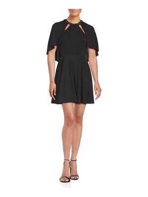 ABS by Allen Schwartz Studded Roundneck Dress