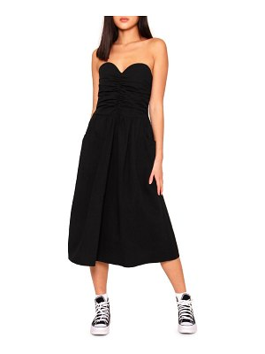 Absence of Colour bessy strapless midi dress