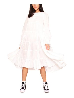Absence of Colour ernie long sleeve tiered swing dress