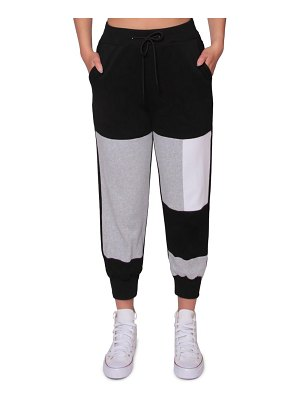 Absence of Colour grizzy colorblock joggers