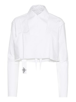 Absence of Paper layer cake cotton shirt