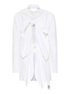 Absence of Paper pigtails cotton shirt