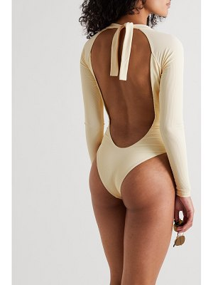 Abysse billie open-back ribbed stretch-econyl swimsuit