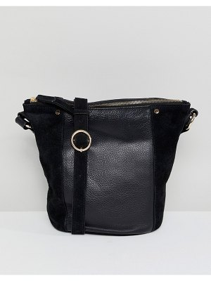 Accessorize skylar leather and suede bucket bag