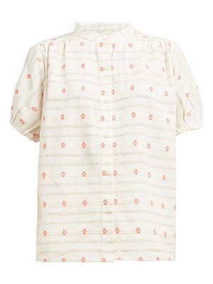 ace & jig aiden embroidered cotton shirt