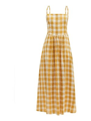 ace & jig kennedy checked cotton-blend maxi dress