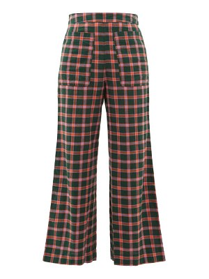 ace & jig laura checked cotton wide leg trousers