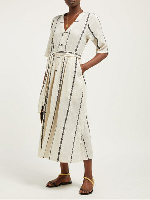ace & jig leelee striped cotton midi dress