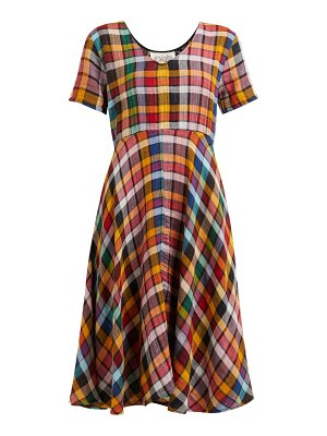 ace & jig luella checked cotton dress