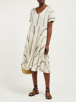ace & jig luella striped cotton midi dress