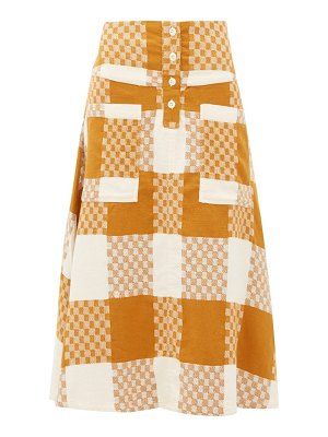 ace & jig maisie checked cotton a-line skirt