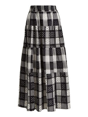 ace & jig Mojave panelled checked cotton skirt