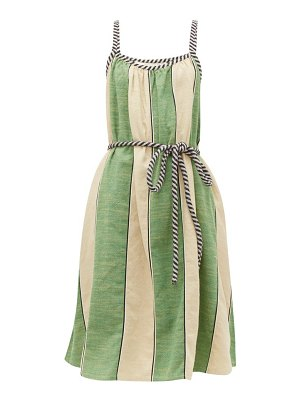 ace & jig noelle striped tie waist cotton dress
