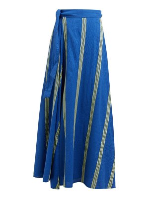 ace & jig sangria striped cotton maxi wrap skirt