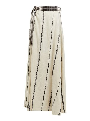 ace & jig sangria striped cotton wrap skirt
