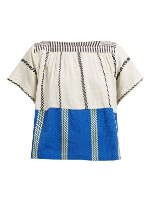 ace & jig vista aztec striped cotton voile top