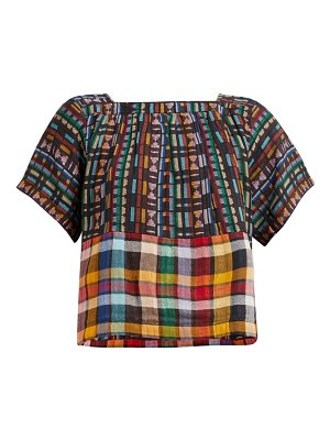 ace & jig vista checked cotton top