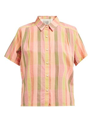 ace & jig winne striped cotton shirt