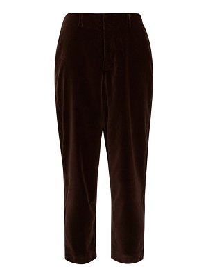 Àcheval Pampa al viento high-rise velvet tapered trousers