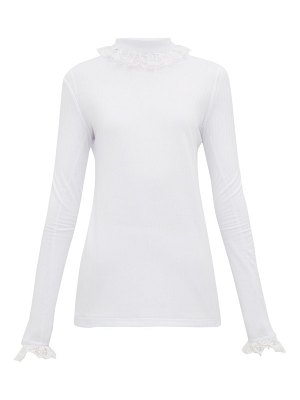 Àcheval Pampa escalada lace-trimmed jersey top