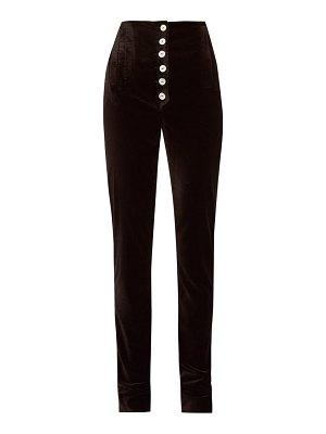 Àcheval Pampa palo high-rise velvet trousers