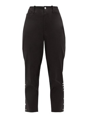 Àcheval Pampa panelled stretch-cotton satin trousers