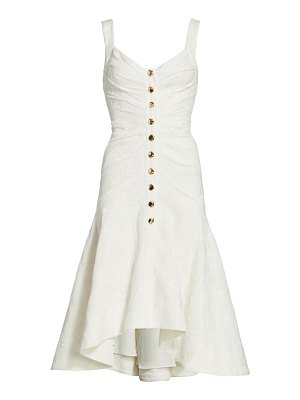 Acler beverly button-front midi dress