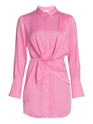 Acler evelyn draped shirtdress