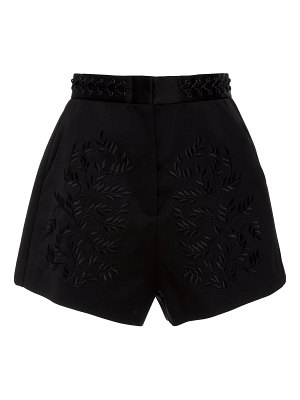 Acler gardiner embroidered wool-blend shorts