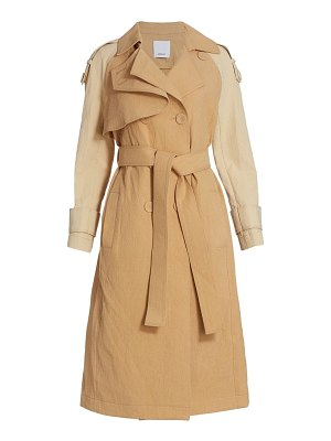 Acler newton two-tone trench coat