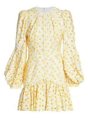 Acler walker embroidered cotton mini dress