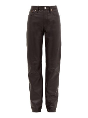 Acne Studios 1997 high-rise straight-leg leather trousers