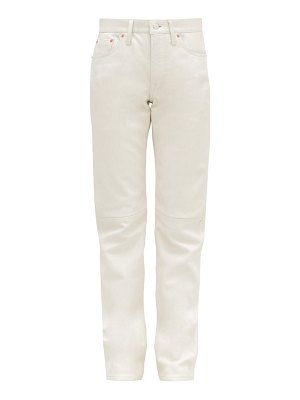 Acne Studios 1997 high rise straight leg leather trousers