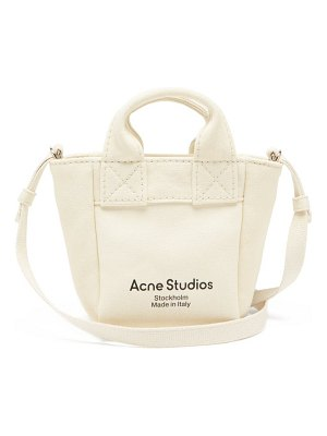 Acne Studios aleah logo-print canvas cross-body bag
