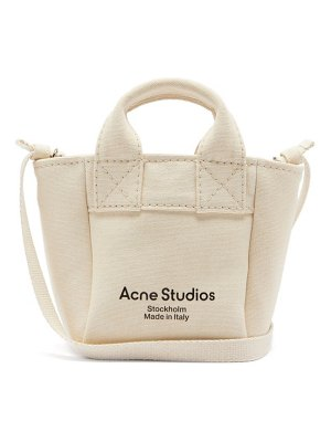 Acne Studios aleah logo-print cotton-canvas cross-body bag