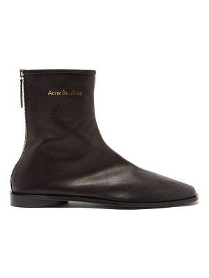 Acne Studios berta back-zip stretch-leather ankle boots