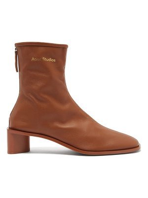 Acne Studios bertine back-zip stretch-leather ankle boots